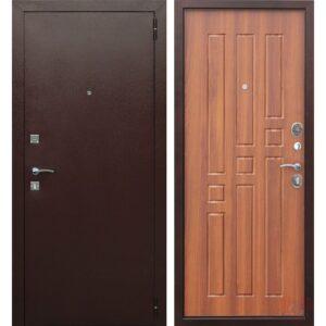 Входная дверь металлическая Гарда 8 мм Рустикальный дуб