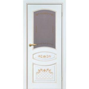 Купить дверь АЛИНА-2 ЭМАЛЬ СЛОНОВАЯ кость стекло в Сочи
