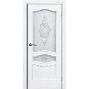 Купить дверь АМЕЛИЯ ДУБ ЖЕМЧУГ стекло