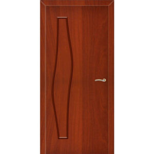 Межкомнатная дверь ВОЛНА (Итальянский орех)