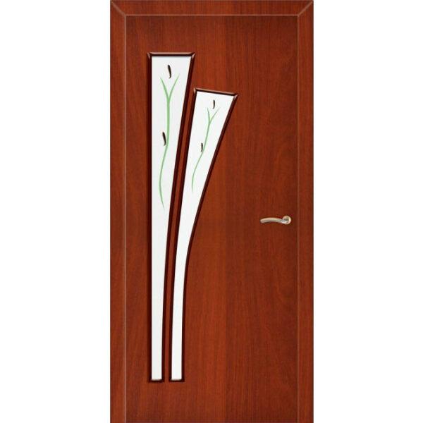 Межкомнатная дверь ЛИСТ стекло (Итальянский орех)