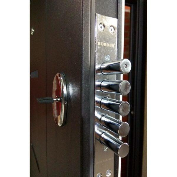 Входная дверь металлическая 7,5 Гарда МУАР Царга Лиственница беж