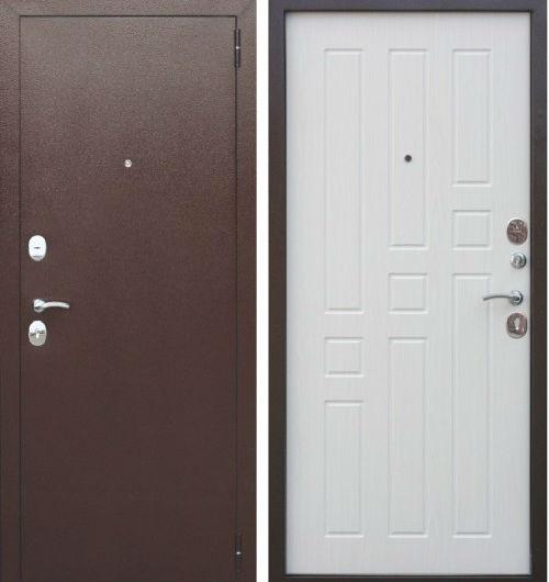 Входная дверь металлическая Гарда 8 мм Белый ясень