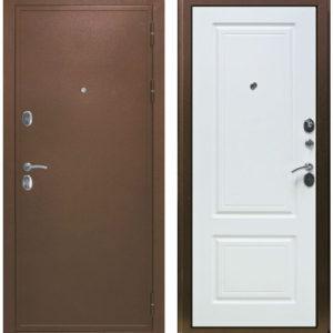 Входная дверь металлическая ДИПЛОМАТ белый ясень