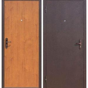 Входная дверь металлическая Стройгост 5-1 золотистый дуб