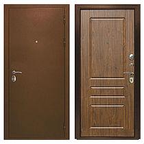 Входная дверь металлическая ЭТАЛОН Мореная береза