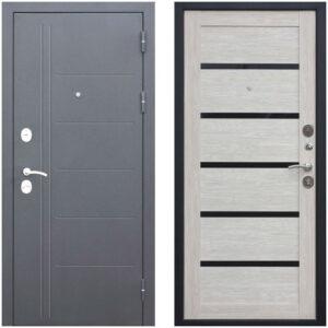 Входная дверь металлическая 10 см Троя Муар Лиственница мокко