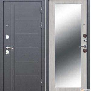 купить Входная дверь металлическая 10 см Троя Серебро MAXI зеркало Дуб Сонома