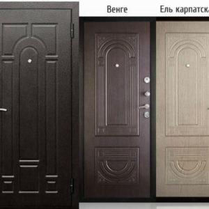 Входная дверь металлическая ЙОШКАР ВЕНГЕ,КАРПАТСКАЯ ЕЛЬ штамп