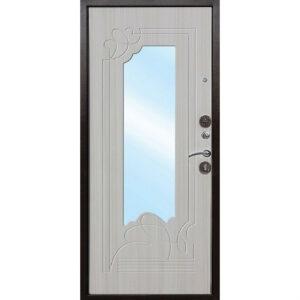 Входная дверь металлическая АМПИР Белый Ясень