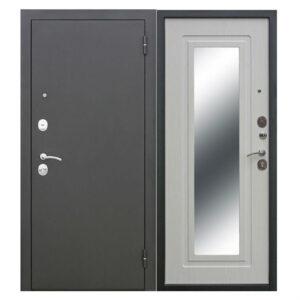 Входная дверь металлическая Царское зеркало МУАР Белый Ясень