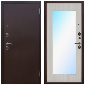 Входная дверь металлическая Царское зеркало MAXI Белый Ясень