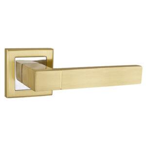 Ручка раздельная Punto (Пунто) STYLE QL SG/CP-4 матовое золото/хром