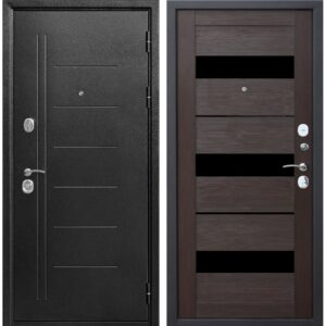 Входная дверь металлическая 10 см Троя Серебро (Темный Кипарис)