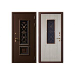 Входная дверь металлическая ВЕНЕЦИЯ 2 (Сандал белый)